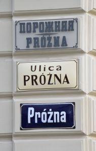 Tablice_Ulica_Próżna_w_Warszawie